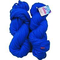 GANGA Knitting Yarn Thick Chunky Wool, Deep Blue 200 gm Best Used with Knitting Needles, Crochet Needles Wool Yarn for Knitting. by GANGA