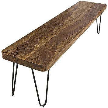 Wohnling Esszimmer Sitzbank Massiv-Holz Sheesham 120 x 45 x 40 cm ...
