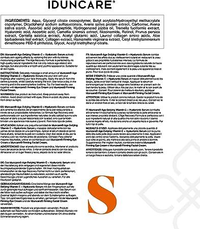 Iduncare Sérum Facial Vitamina C & Ácido Hialurónico - Sérum Antiedad con Efecto Antiarrugas, Hidratante e Iluminador - Mejor Sérum con 20% Vitamina C, Ácido Hialurónico y Colágeno - 50 ml