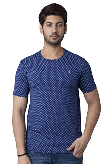 081f97bd29 SKY WATER Men's Navy Blue Colour Graphic Printed Half Sleeves T-Shirt:  Amazon.in: Clothing & Accessories