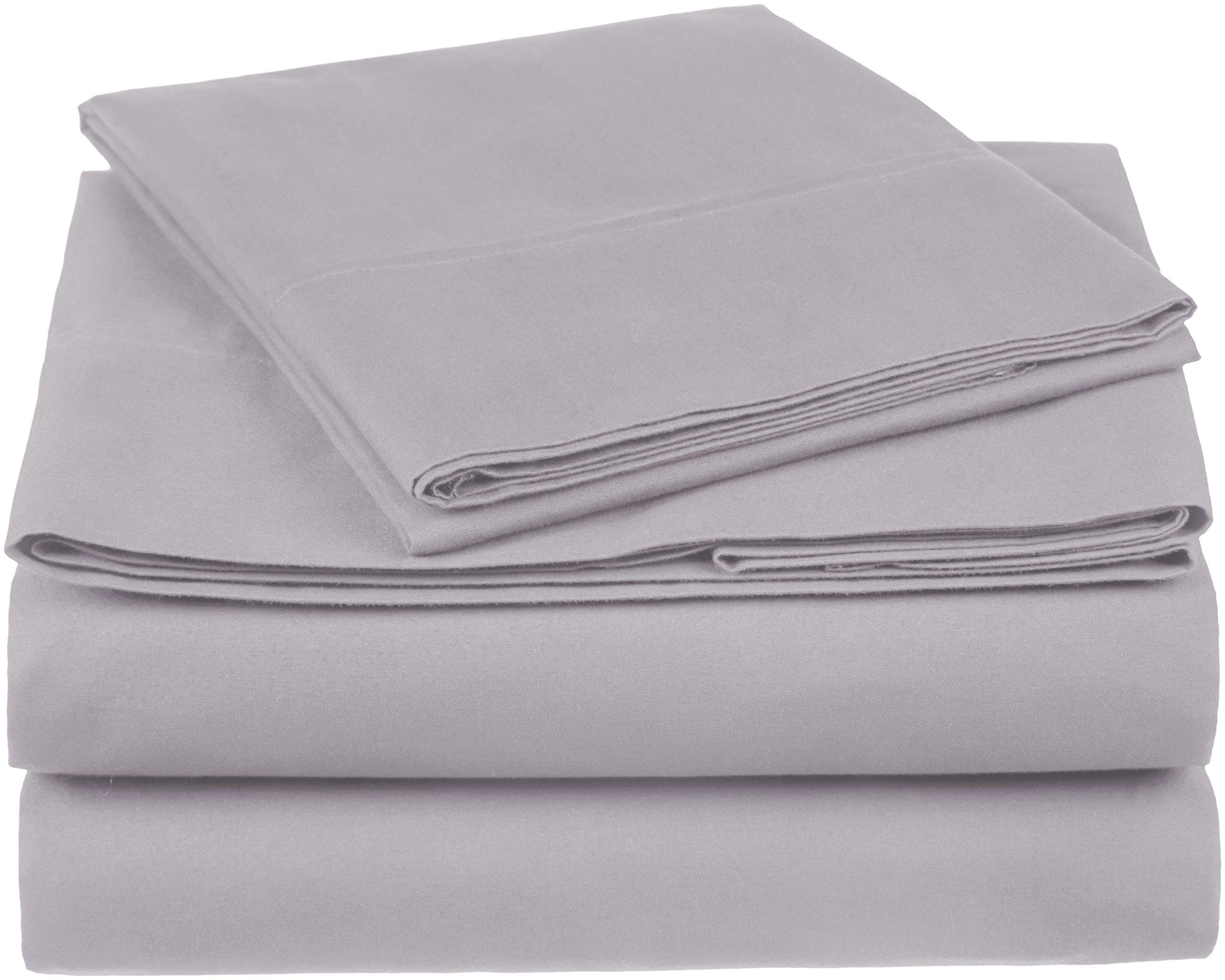 Pinzon 300 Thread Count Organic Cotton Sheet Set - Twin, Dove Grey