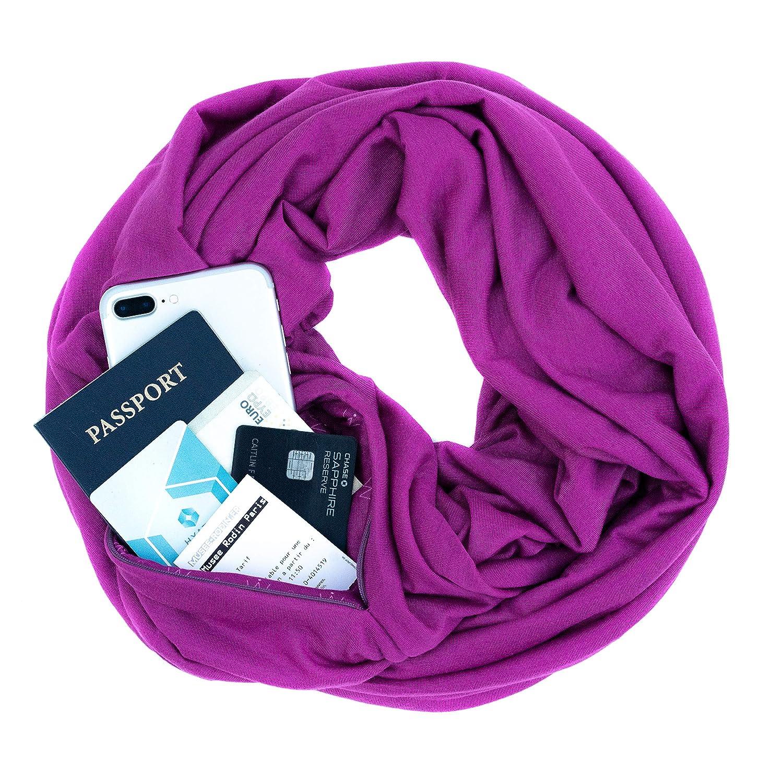 WAYPOINT GOODS Travel Scarf //// Infinity Scarf w//Secret Hidden Zipper Pocket
