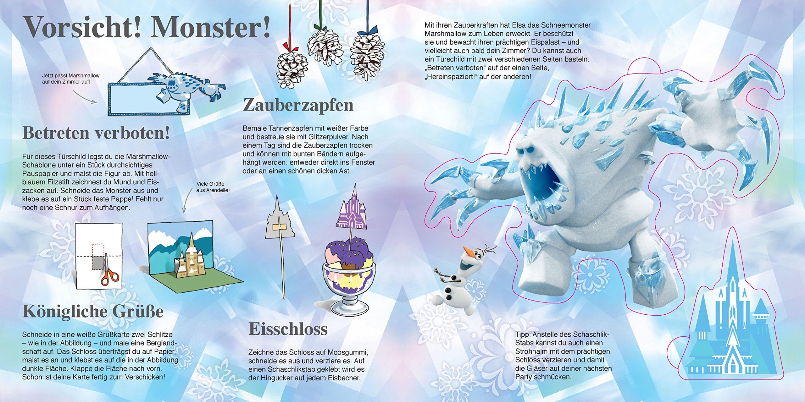 Die Eiskonigin Basteln Mit Schablonen 9783849909116 Amazon Com