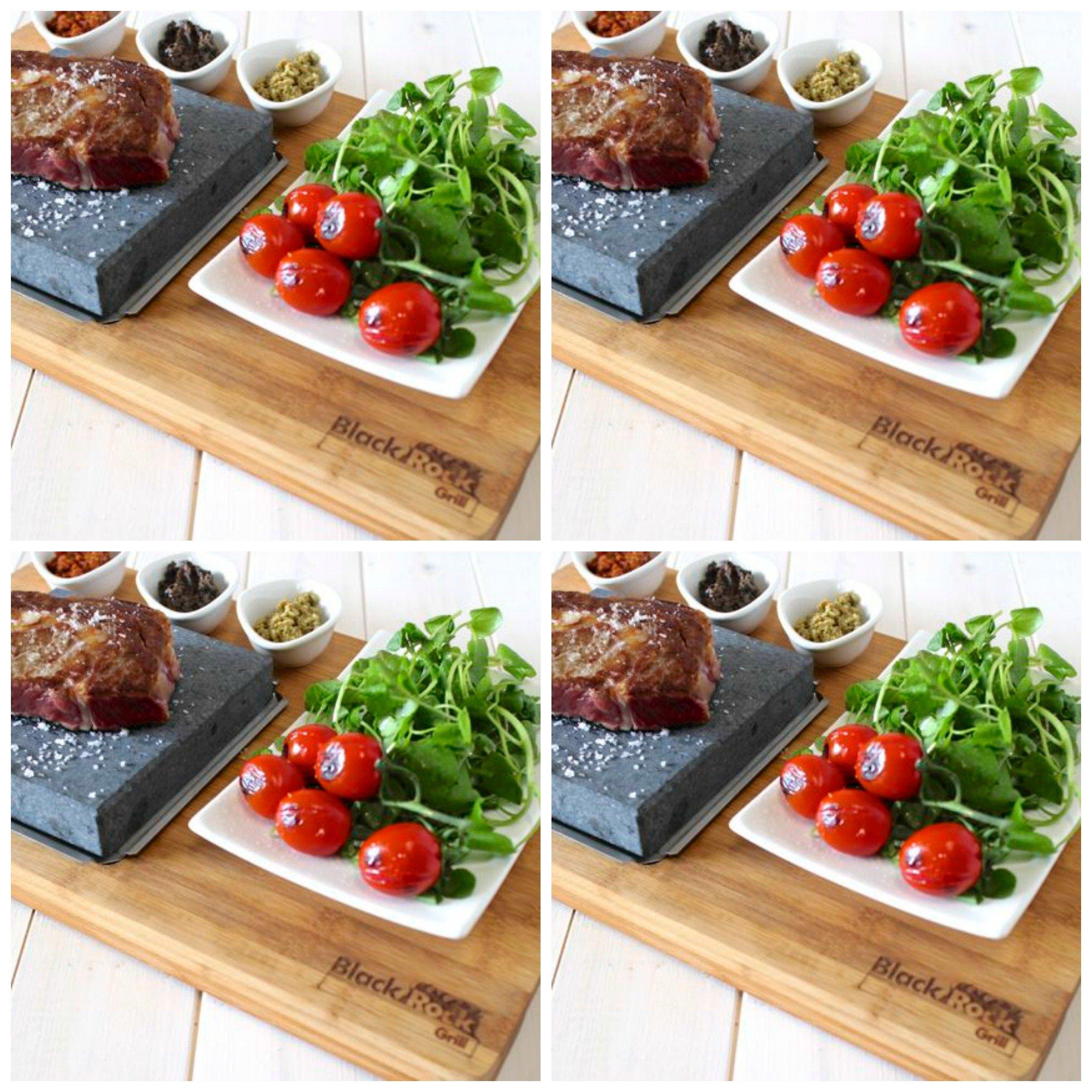 Bamboo Steak On The Stone Premium -Set of 4