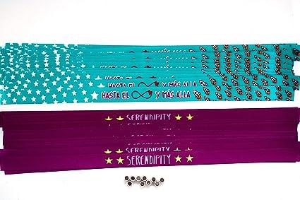 Pulseras personalizadas para bodas, despedidas de soltero, comuniones, cumpleaños | Pulseras de tela personalizadas con frase | Pack de 50 unidades.: Amazon.es: Oficina y papelería