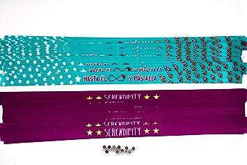 a23e8db83853 Pulseras de tela con mensaje personalizadas en pack de 50 unidades para  bodas