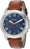 Fossil Grant Chronograph Dark Brown Leather Watch