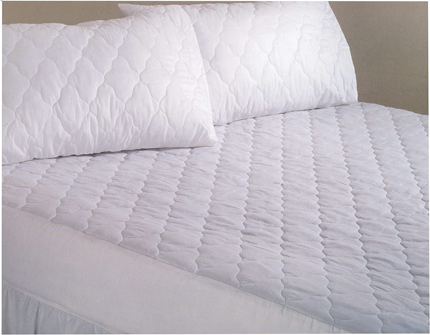 """Small Emperor Size Quilted Mattress Protector 200cm x 200cm 15/"""" Extra Deep"""