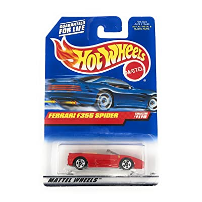 Mattel Hot Wheels 1999 1:64 Scale Red Ferrari F355 Spider Die Cast Car Collector #1119: Toys & Games