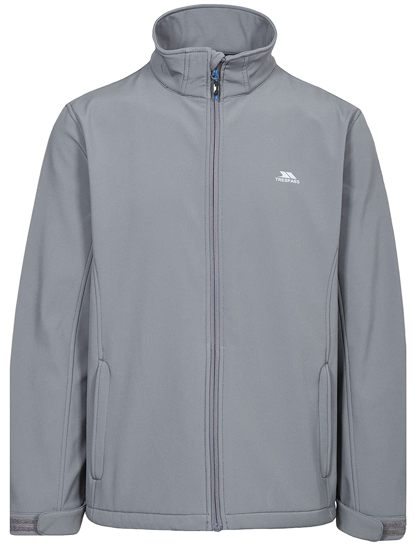 Trespass Vander Mens Lightweight Windproof Coat Full Zip Softshell Jacket