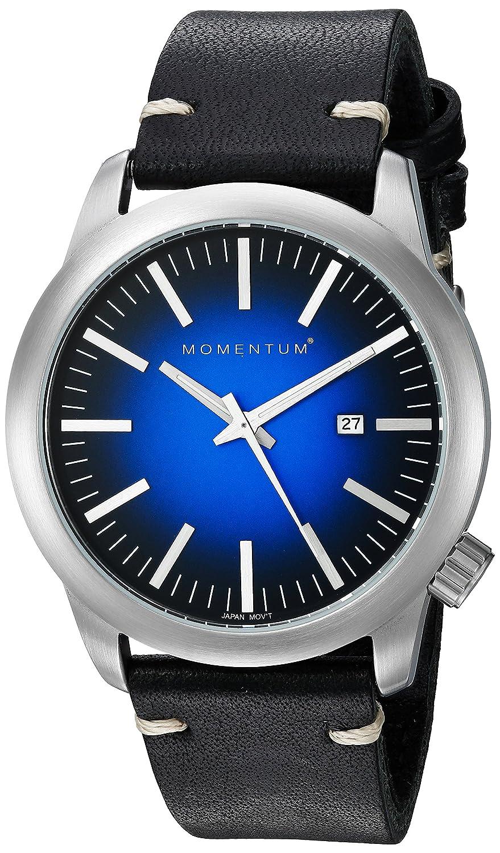 Momentum Men 's QuartzステンレススチールandレザーDress Watch , Color : Black ( Model : 1 m-sp10u3b ) B01JGPWTRQ