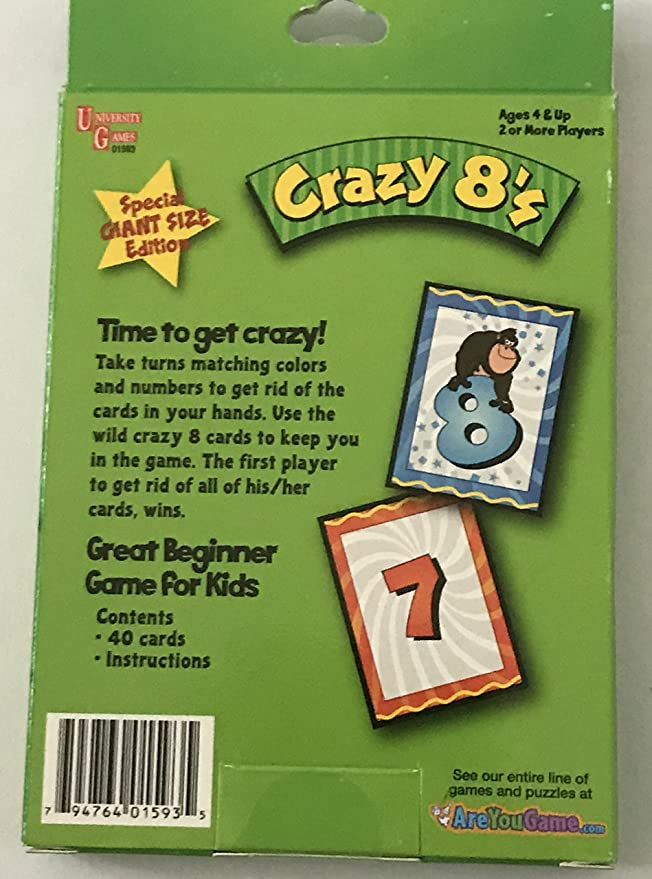 Amazon 3 Pack Kids Card Games 4yrs Crazy 8s Go Fish Old