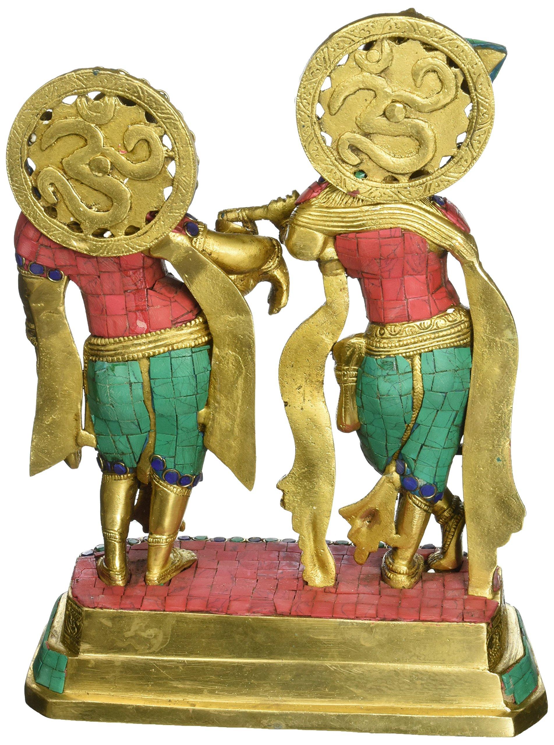 AapnoCraft Large Standing Radha Krishna Statue - Exquisite Divine Couple Radha Krishna Idols Symbol of Love Sculpture Wedding Gifts by AapnoCraft (Image #2)