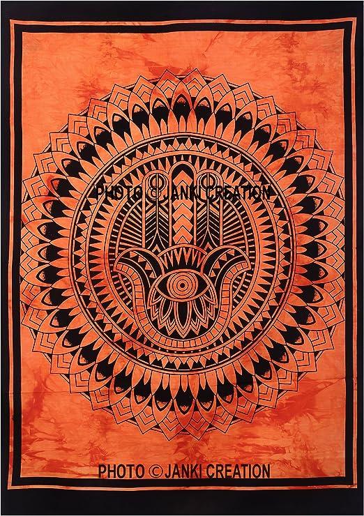 Póster indio tamaño 30 x 40 Hippie Hippy Póster colgante de pared de algodón indio Mandala