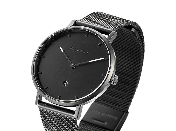 Meller Reloj Analógico para Unisex Adultos de Cuarzo con Correa en Acero Inoxidable W1N-2BLACK: Amazon.es: Relojes