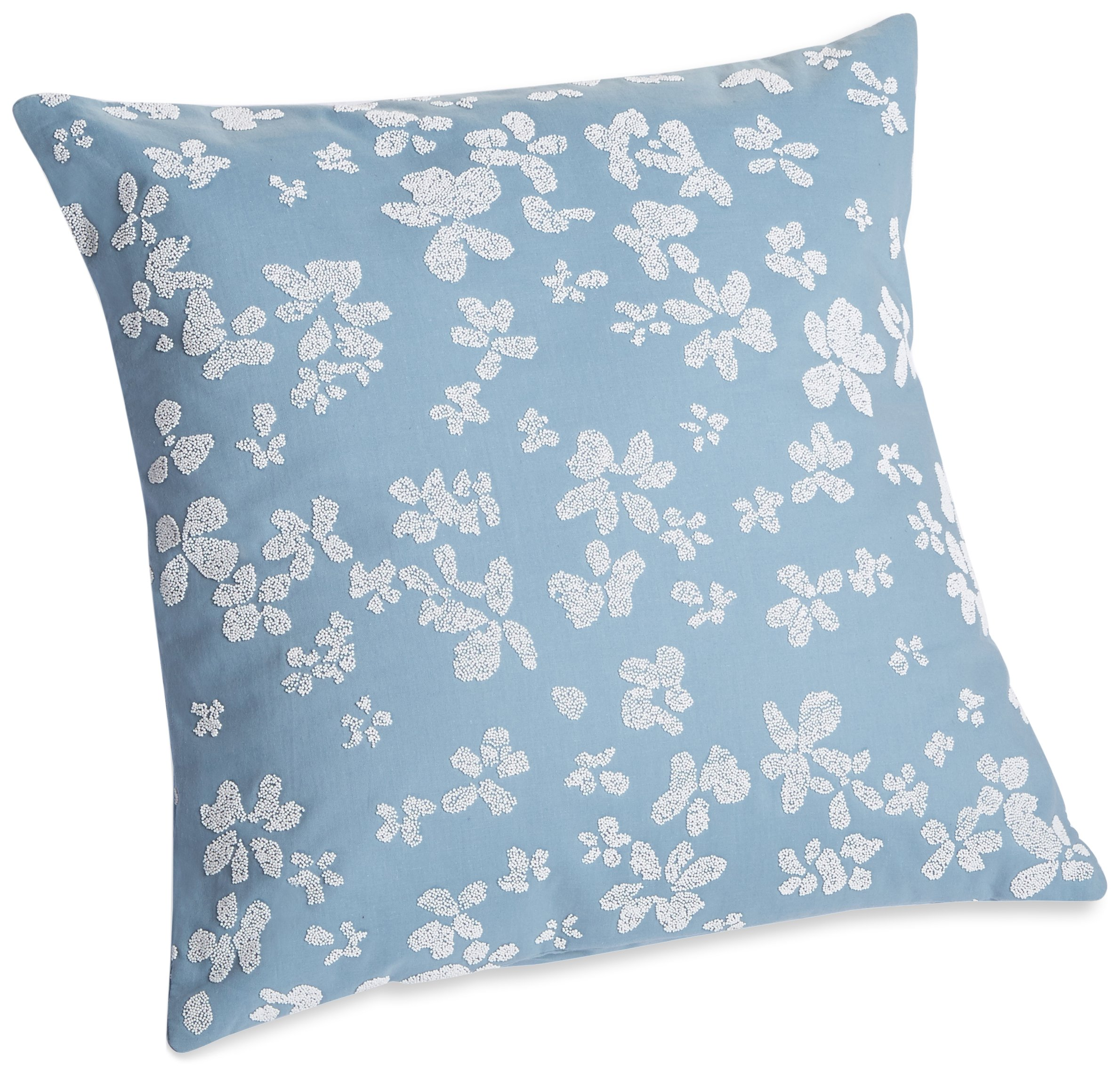 Calvin Klein Home Heather Dotted Floral Pillow, 18'' X 18'', Cove