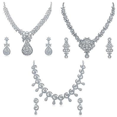 Jewelry & Watches Lower Price with White Pearl & Rhinestone Formal Rhinestone Crystal Necklace Set Wedding Bridal