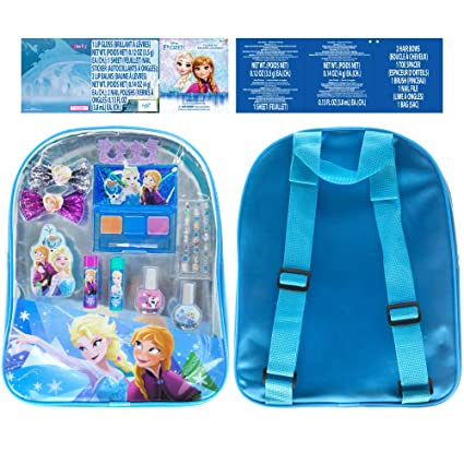 d9bd3d318f Amazon.com  Disney Frozen Anna and Elsa Kids Backpack and Beauty Set ...