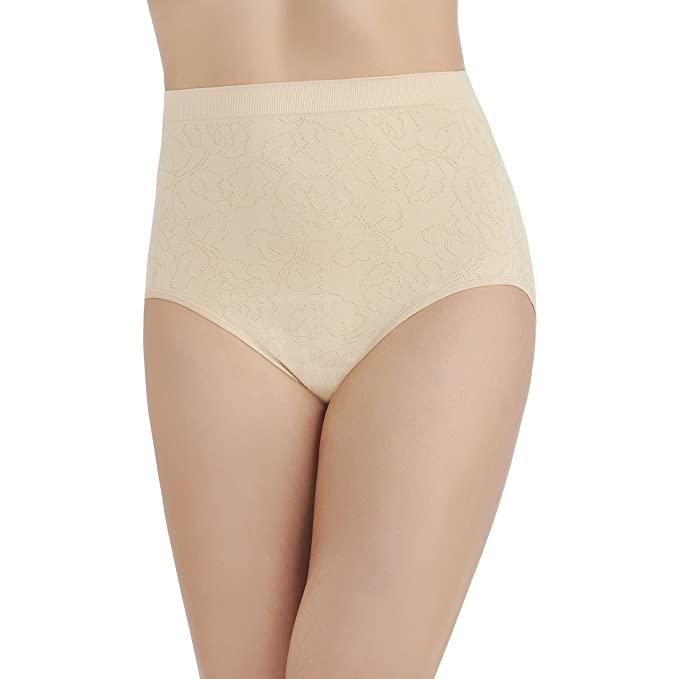 6e71826d284b Vanity Fair Women's Perfectly Yours Seamless Jacquard Brief Panty 13096,  Damask Neutral, ...