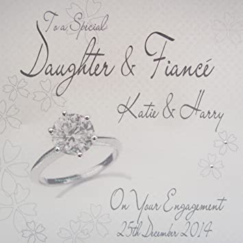 personalised card engagement ring daughter fianc - Engagement Cards