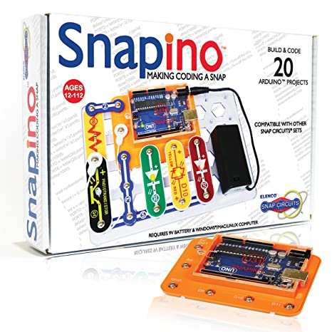 Snap Circuits Snapino - Making Coding A Snap | Snap Circuits & Arduino  Compatible | Perfect Introduction to Coding | STEM Educational Product for  Kids