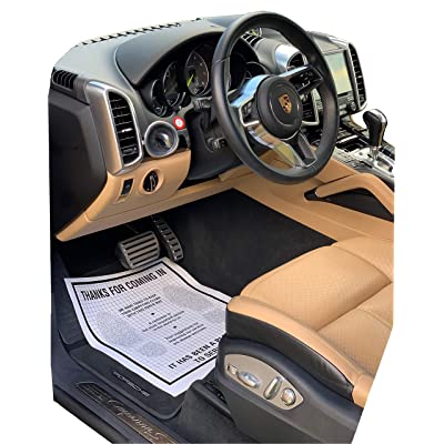AutoMat Heavy Duty Premium Reinforced Plastic Coated Disposable Paper Automotive Floor Mat (Case of 250): Automotive