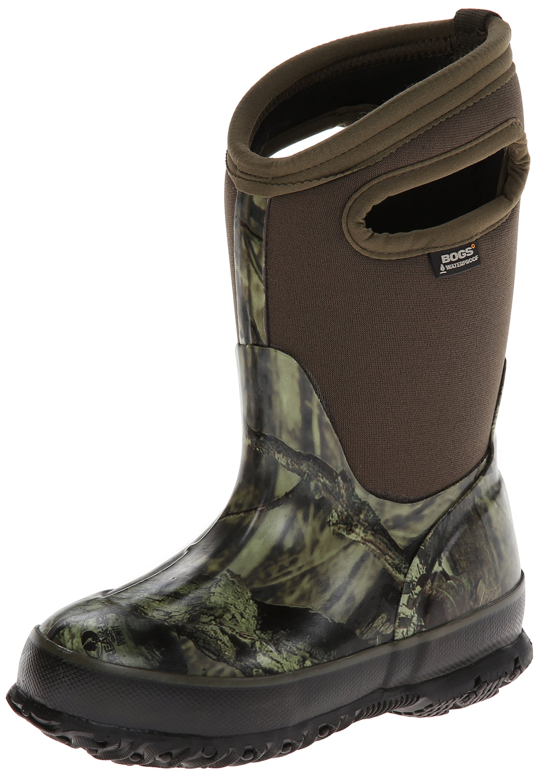 Bogs Classic High Waterproof Insulated Rubber Neoprene Rain Boot Snow, Camo Mossy Oak/Green/Multi, 4 M US Big Kid