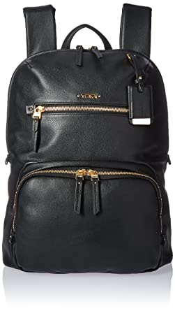 Tumi Women's Voyageur Leather Halle Backpack, Black, One Size