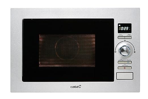 Cata MC 25 D - Horno microondas con grill, 900 W, color plateado