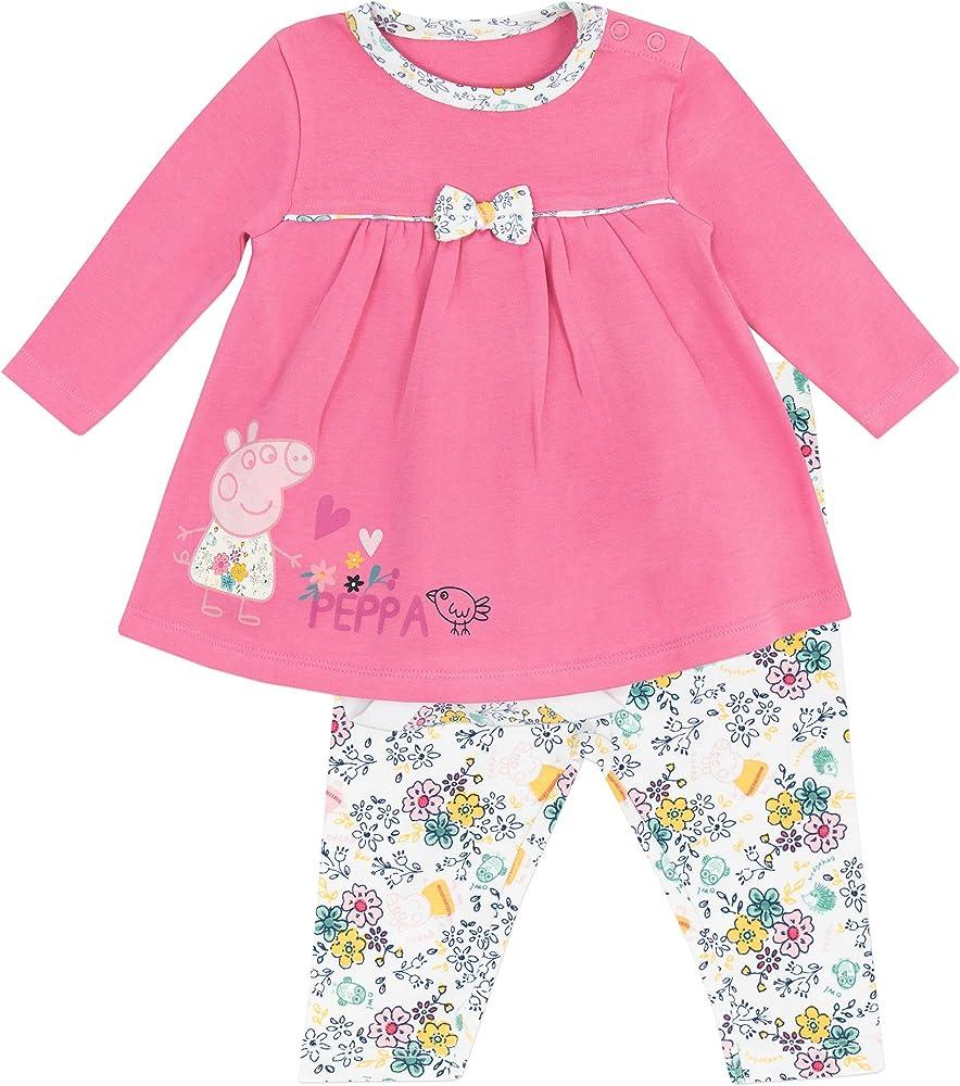 Peppa Pig - Conjunto de vestido para niñas Bebés - Peppa Pig - 3 a ...
