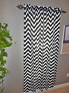 Captivating Black Living/Dining Room Curtains   Crabtree Collection   Classic Black  Chevron (55 X