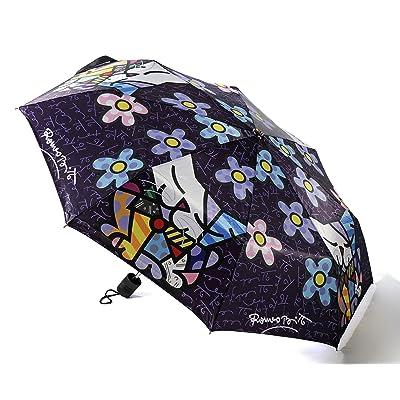 Romero Britto Cat - Flowers Travel Umbrella