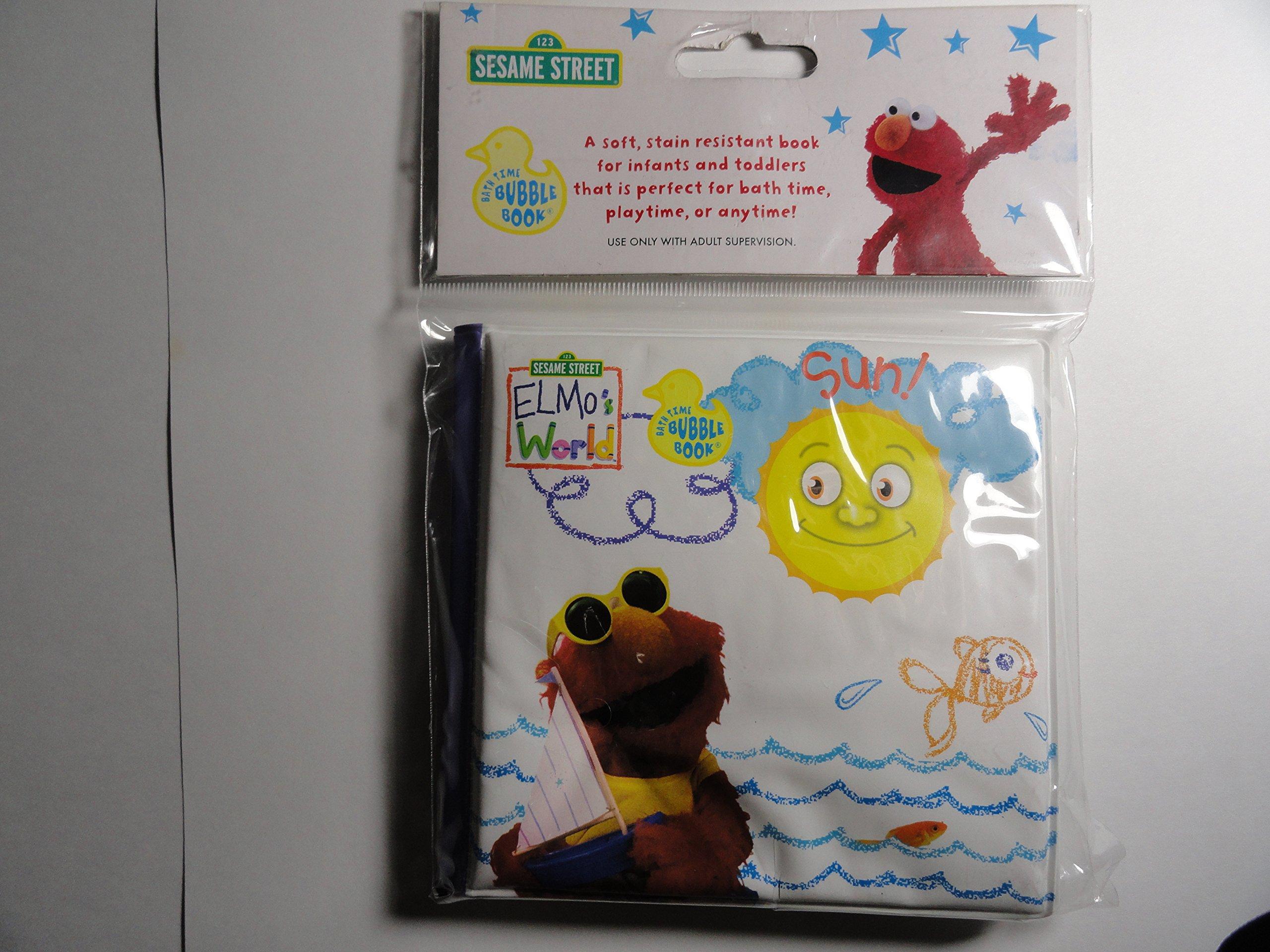 Sesame Street Elmo S World Bath Time Bubble Book Stars