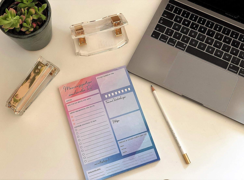 Format A5 50 Blatt To Do/'s Notizblock f/ür t/ägliche Aufgaben und mehr Achtsamkeit Notizen Verabredungen abtrennbare Einkaufsliste uvm. Tagesplaner Block gr/ün