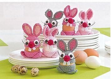Häkel Packung Für 6 Lustige Eierwärmer Amazonde Küche Haushalt