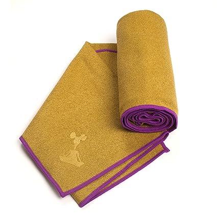 YogaRat Yoga Towel - Toalla (Extra Largo, Grueso, 72