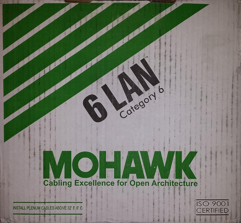 Mohawk 1000 Feet Cat 6 Ethernet Cable Riser M58292b Cat5e Patch Snagless Plenum 2539 Black Home Audio Theater