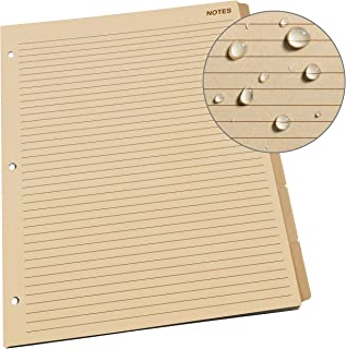 """product image for Rite In The Rain Weatherproof Generic Planner Tab Set, 8 1/2"""" x 11"""", Tan Sheets (No. 9271-MX)"""