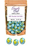 CandyOut Chocolate Earth Balls 2lb - Foil Wrapped Chocolate Candy in sealed stand-up bag
