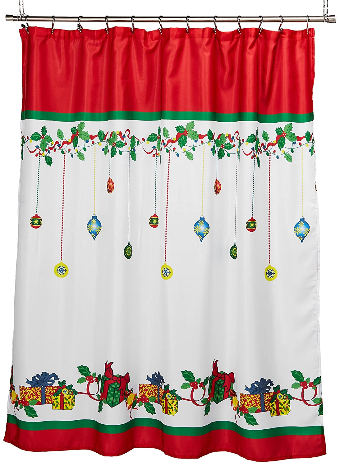 Lorraine Home Fashions Holiday Shower Curtain