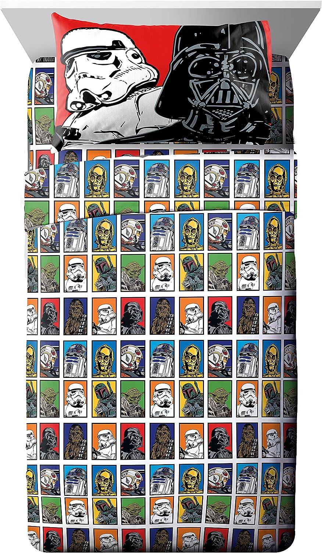 Jay Franco Star Wars 4 Piece Sheet Set, Full, Classic Multi, 24