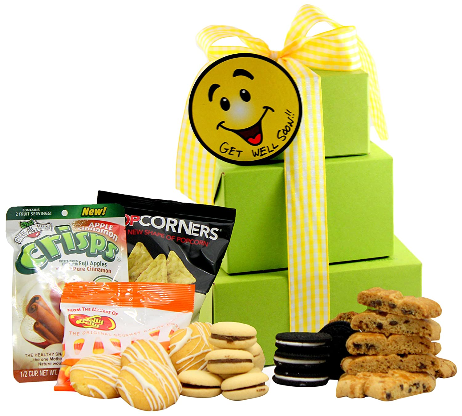 CDM product GlutenFreePalace.com Large-Palace Smiles and Cheer, Get Well Gift Tower, 2-Pound, Large big image