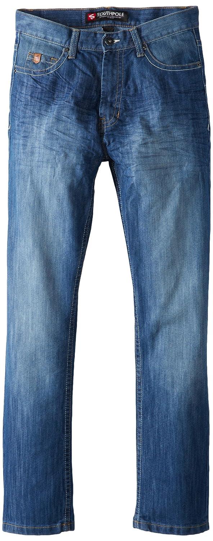 Southpole Men's 6181 Regular Straight-Fit Jean In Medium Blue