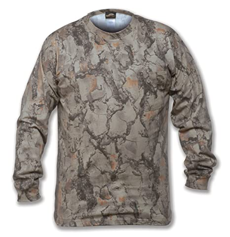 016d0ed7 Natural Gear Long Sleeve Camo T-Shirt, Tagless and Preshrunk Lightweight  Shirt for Women