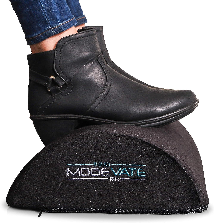 Modevate Ergonomic Desk Foot Rest Cushion for Office or Home, Black, MO-001