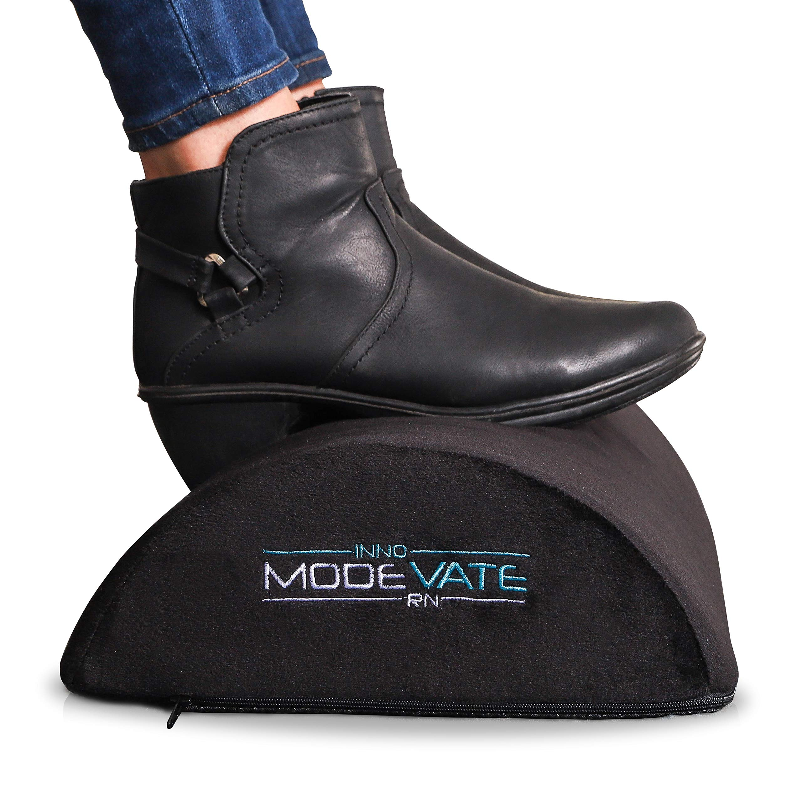 Modevate Ergonomic Desk Foot Rest Cushion for Office or Home, Black, MO-001 by Modevate