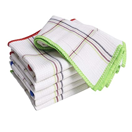 Amazon.com: Luckiss Bamboo Dish Cloths Quick Dry Kitchen Rags for ...
