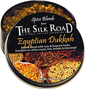 Egyptian Dukkah Spice Blend from The Silk Road Restaurant & Market (2oz), No Salt | All Natural Dukkah Seasoning | Vegan | Gluten Free Ingredients | NON-GMO | No Preservatives Product Name