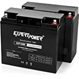 (2 Pack) ExpertPower 12 Volt 20 Ah Rechargeable Battery With Threaded Terminals [EXP12200]