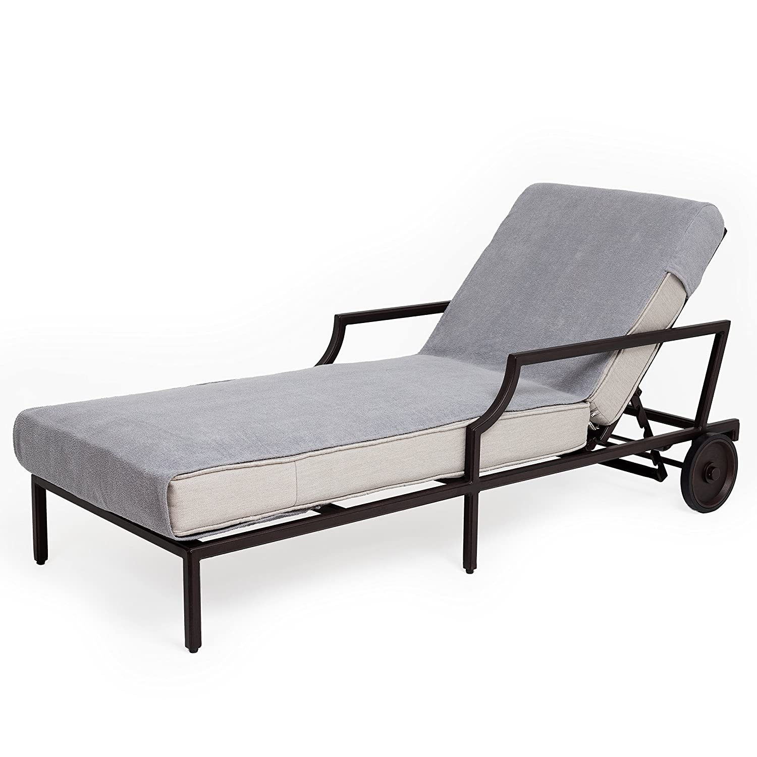 Grey Linum Home Textiles Cl95-Snp Chaise Lounge Cover